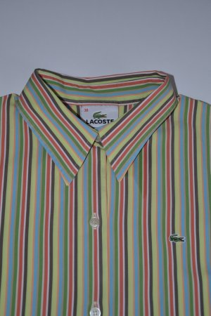 Original Lacoste Damen Bluse gestreift Hemd in Gr. 38