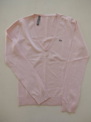 Lacoste V-Neck Sweater light pink silk