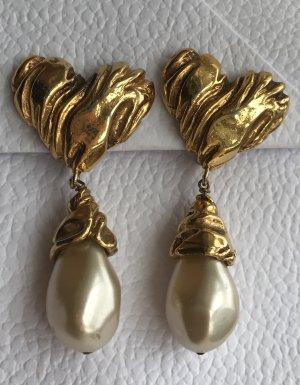 Original Lacroix Paris Designer Ohrclipse Signiert gestempelt Earrings