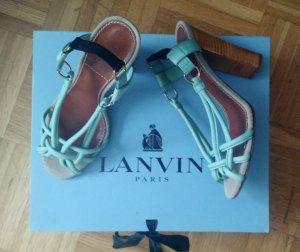Original Lanvin Sandale 38 Sandalette luxus designer highheels grün türkis mint