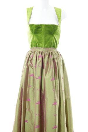 Original-Lanz Dirndl wiesengrün-pink Elegant