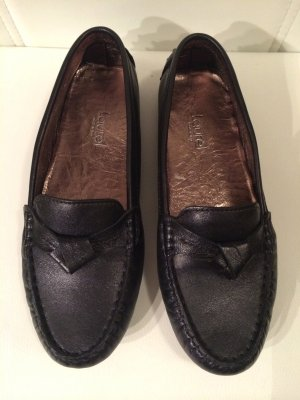 Original Laurèl Mokassins/Slipper schwarz Gr.37 NEU!