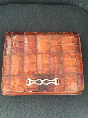 Original Lederclutch cognac