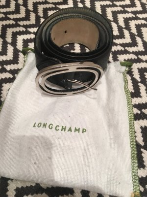 Longchamp Leather Belt black leather