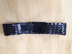 Patrizia Pepe Braided Belt black leather