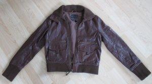 Original Lederjacke braun von MNG Casual Sportswear Größe M
