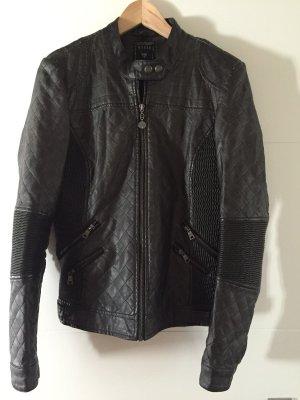 Original Lederjacke von Guess in schwarz