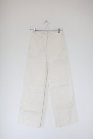 Original Les Coyotes De Paris Jeans Flared Pants weiß Denim Gr. 36 High Waist