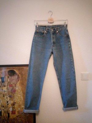 "Original Levi's Jeans 501 28""/32"" blau XS S 36"