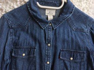 Original Levi's Jeanshemd, Denim Shirt, Dunkelblau, Größe L