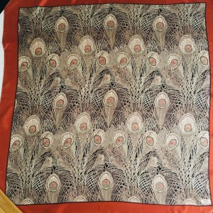 Original Liberty Seidentuch, Pfauenfeder-Muster, 85 x 85 cm