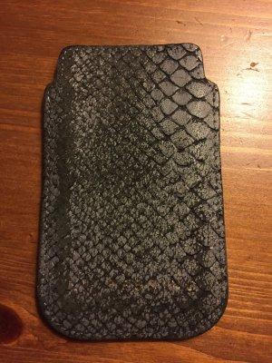 Original Liebeskind Berlin iPhone 4 Hülle in grau, Schlangenoptik
