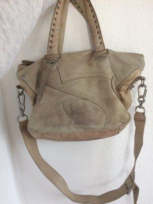 Original Liebeskind Tasche beige/ Natur, Leder, Nieten