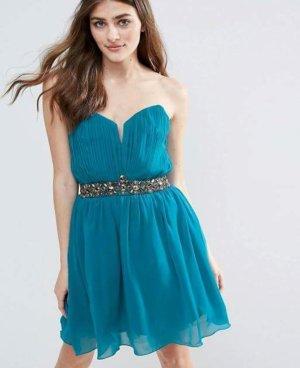 Original Little Mistress Dress Petrol Silber 38 /M