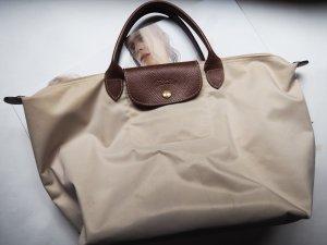Original LOHNGCHAMP Le Pliage, beige, Größe M