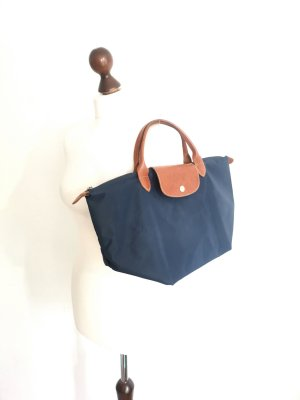 Original Longchamp Le Pliage Medium Nylon Navy Blue Handtasche