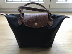 Original Longchamp Le Pliage S - Tasche schwarz-braun-gold