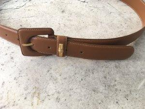 Longchamp Cintura di pelle cognac