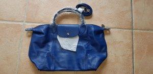 Original Longchamp Ledertasche, blau, Neu