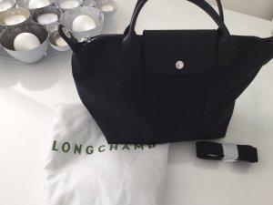 Longchamp Crossbody bag black-silver-colored
