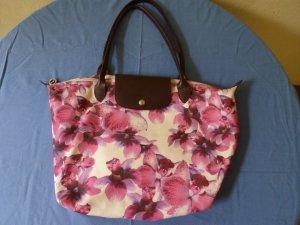 Original Longchamp Shopper - special Edition mit Blumen- in gutem Zustand!
