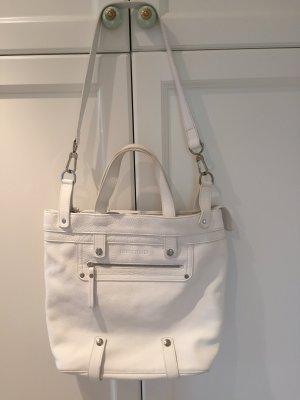 Original Longchamp Tasche aus Leder in weiß / Umhängetasche