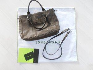 Longchamp Handtas oker Leer
