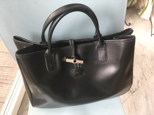 Original Longchamp Tasche Shopper Roseau Leder