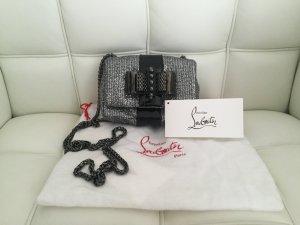 Original Louboutin glitzer Handtasche in Silber schwarz