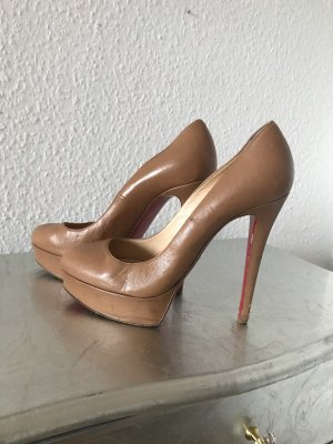 Original LOUBOUTIN High Heels Pumps Plateau 38 nut beige 495€
