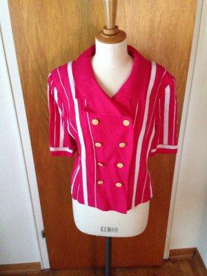 Original louis feraud true Vintage Blazer gr 44 wie neu pink weiß
