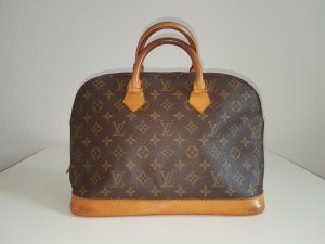 Louis Vuitton Carry Bag brown linen
