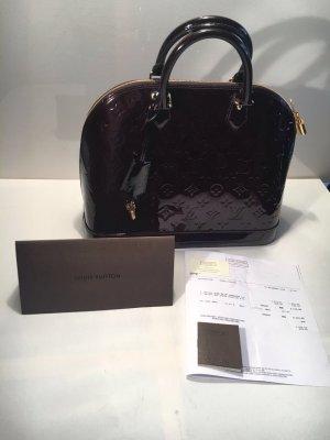 Louis Vuitton Sac à main bordeau cuir