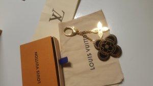 Louis Vuitton Porte-clés doré-brun rouge