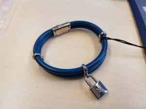 Original Louis Vuitton Armband Keep it twice blau silber & Zertifikat