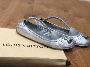 Louis Vuitton Ballerines pliables argenté