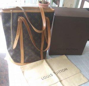 Louis Vuitton Bolsa marrón oscuro-marrón arena Cuero