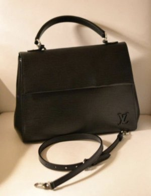 Original Louis Vuitton Cluny mm EPI Leder Noir Fullset