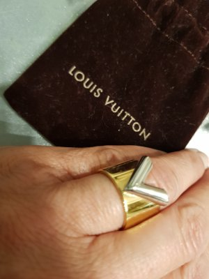 Louis Vuitton Ring zilver-goud