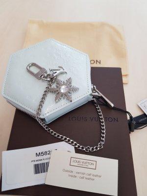 Original Louis Vuitton Geldbörse mit Kette Anhänger Zertifikat & Box hellblau Taschenanhänger