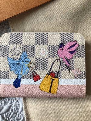 Original Louis Vuitton Geldtasche Zippy Limitiert Vögel Azur