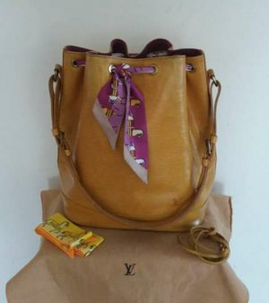 original Louis Vuitton grand Noe cuir Epi jaune