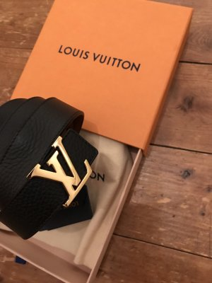 Louis Vuitton Cinturón reversible negro-marrón