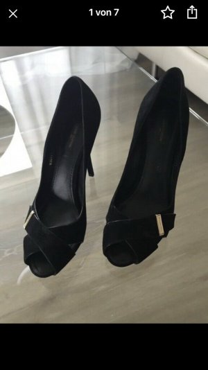 Louis Vuitton Tacones altos negro Gamuza