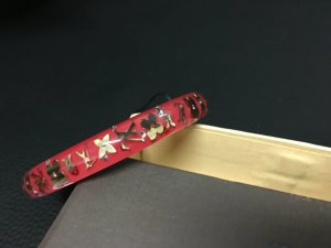 Original Louis Vuitton Inclusion Armband, rot