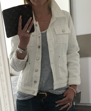 Original Louis Vuitton Jacke Jeansjacke weiß 38