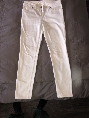 Original Louis Vuitton Jeans weiß Creme Low Waist Skinny 38