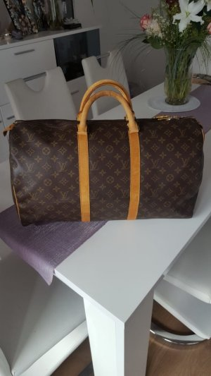 Original Louis Vuitton Keepall 50 Weekender Reisetasche Monogram Canvas