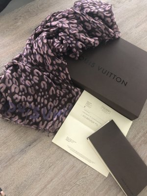 Original Louis Vuitton Leopard Stola mauve