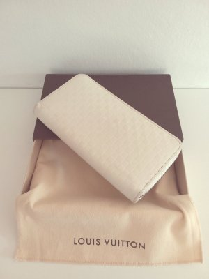 Original louis vuitton limited Edition Marc Jacobs Damier Facette Zippy Wallet in Creme